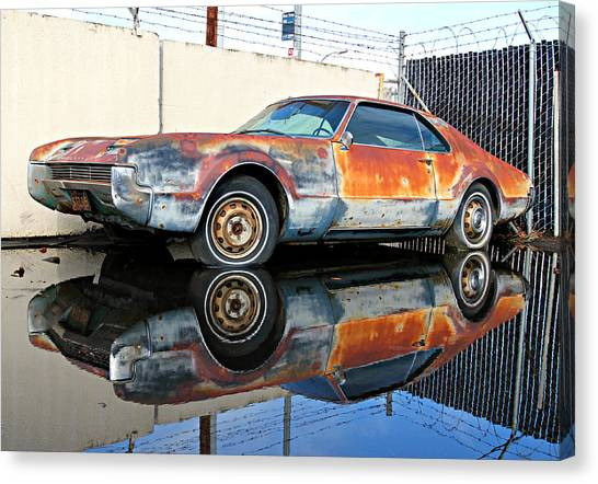 1966 Toronado In Decay  Canvas Print
