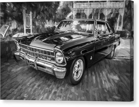 1967 Chevrolet Nova Super Sport Painted Bw 1 Canvas Print