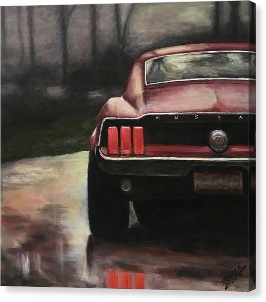 1967 Mustang Canvas Print by Branden Hochstetler