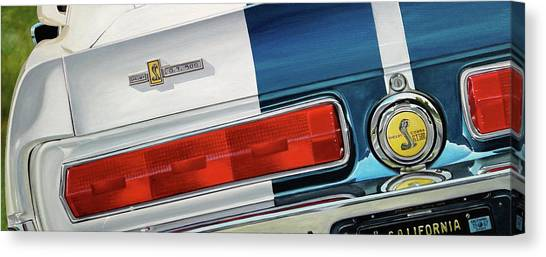 1967 Shelby Gt500 Canvas Print by Branden Hochstetler