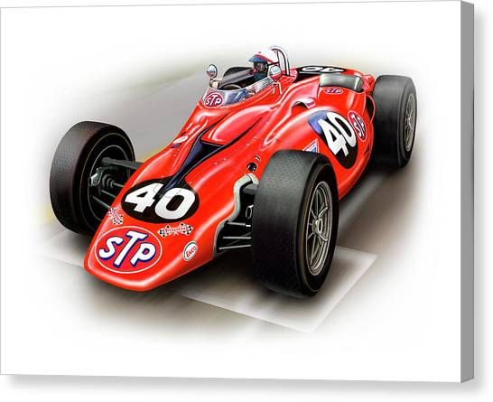 Nascar Canvas Print - 1967 Stp Turbine Indy 500 Car by David Kyte