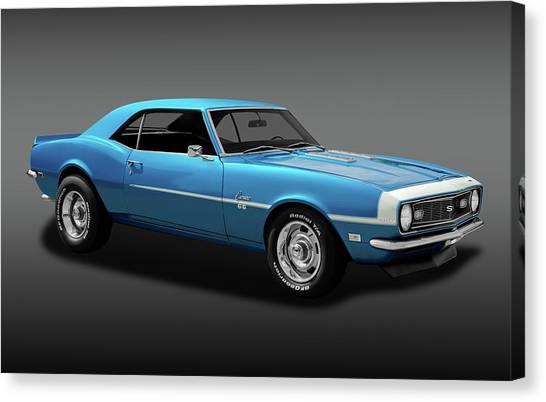 1968 Chevrolet Camaro Super Sport 350   -  1968chevcamaross350fa170414 Canvas Print