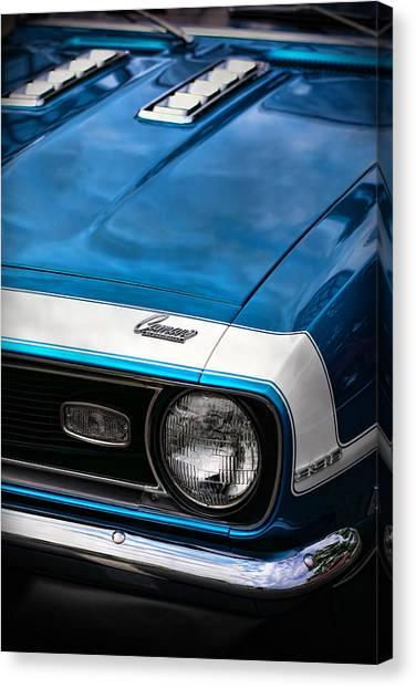 Turn Signals Canvas Print - 1968 Chevy Camaro Ss 396 by Gordon Dean II