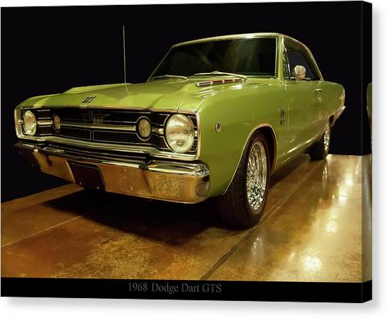 Canvas Print featuring the photograph 1968 Dodge Dart Gts by Chris Flees