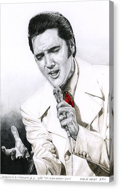 1968 White If I Can Dream Suit Canvas Print