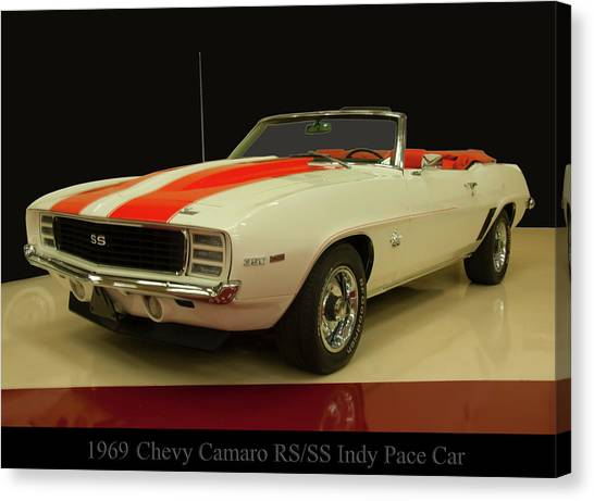 1969 Chevy Camaro Rs/ss Indy Pace Car Canvas Print