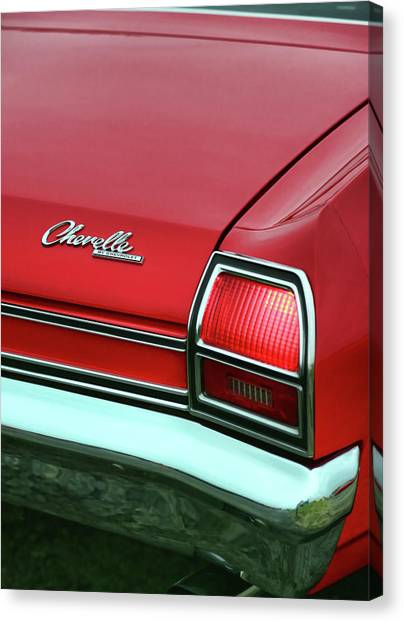 Turn Signals Canvas Print - 1969 Chevy Chevelle Ss 396 by Gordon Dean II
