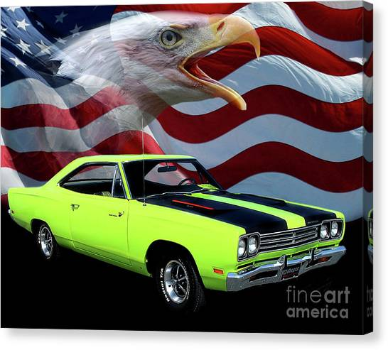 Roadrunner Canvas Print - 1969 Plymouth Road Runner Tribute by Peter Piatt
