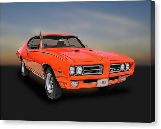 1969 Pontiac Gto Judge  -  69gtojudge444 Canvas Print