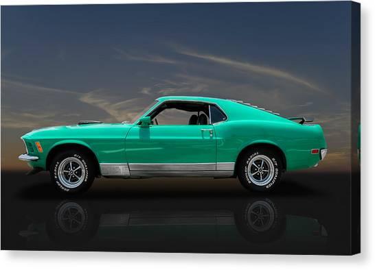 1970 Mustang Cobra Jet Mach 1 428 Canvas Print