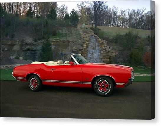 1970 Oldsmobile Cutlass Supreme Convertible Canvas Print