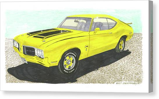 Canvas Print - 1970 Oldsmobile Ralley 350 by Jack Pumphrey