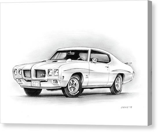 1970 Pontiac Gto Judge Canvas Print