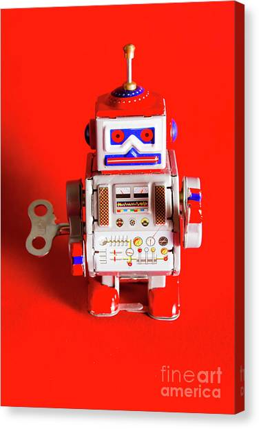 Machinery Canvas Print - 1970s Wind Up Dancing Robot by Jorgo Photography - Wall Art Gallery