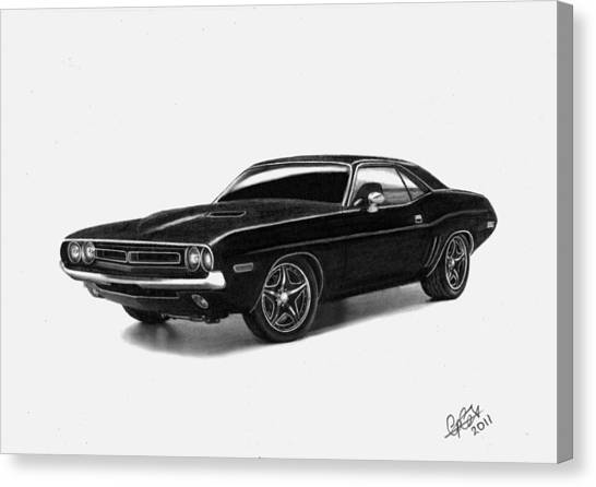 1971 Dodge Challenger Canvas Print