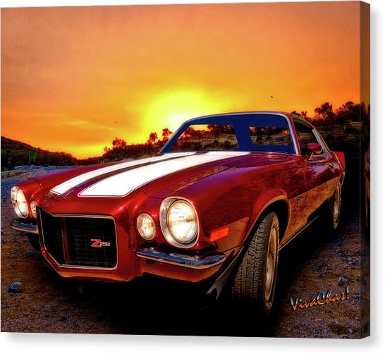 1971 Z28 Camaro Hdr Vivid Remembrance Canvas Print