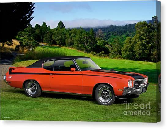 Stock Cars Canvas Print - 1972 Buick Gsx 455 Stage 1 by Dave Koontz
