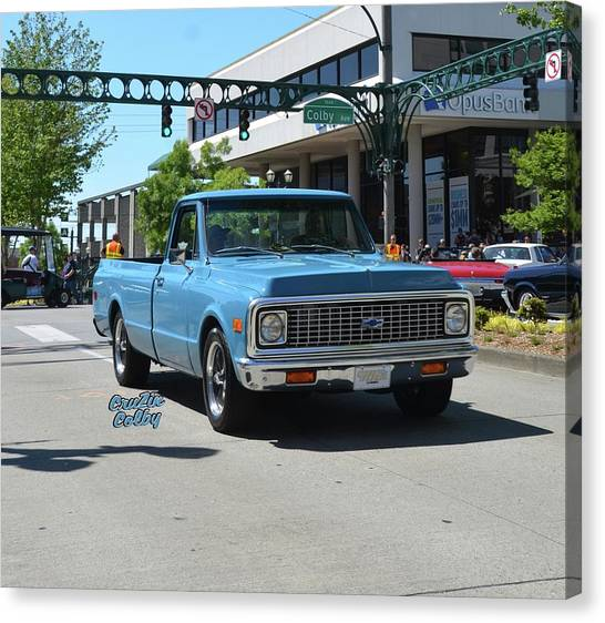 Chevy C10 Canvas Print - 1972 Chevy C10 Bohall by Mobile Event Photo Car Show Photography