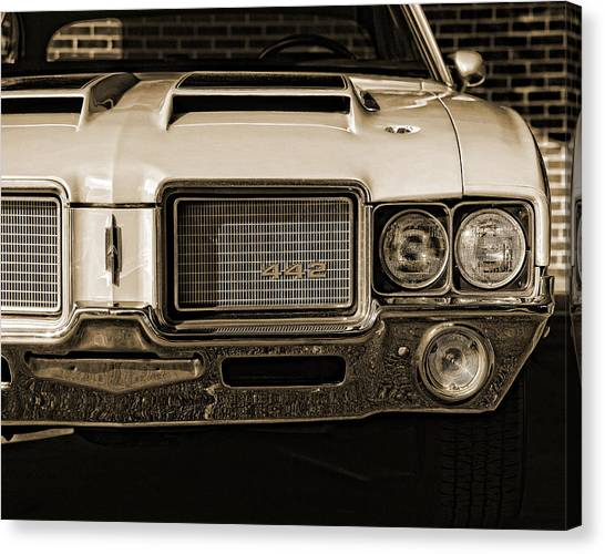 1972 Olds 442 - Sepia Canvas Print