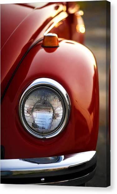 Turn Signals Canvas Print - 1973 Volkswagen Beetle by Gordon Dean II