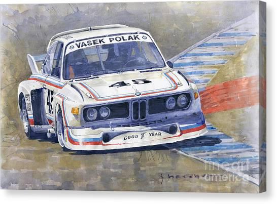 Bmw Canvas Print - 1974 Bmw 3.5 Csl  by Yuriy Shevchuk