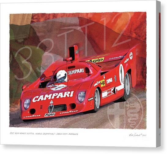 1975 Alfa Romeo 33-tt-12 Canvas Print