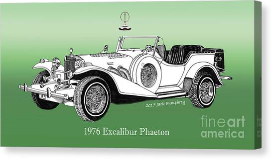 Canvas Print - 1976 Excalibur I I I Phaeton by Jack Pumphrey