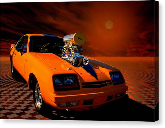 1977 Chevrolet Monza Dragster Canvas Print