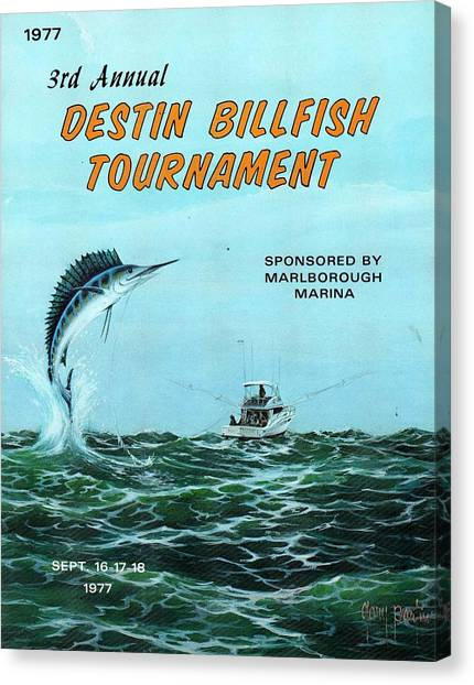 1977 Destin Billfish Tournament Canvas Print