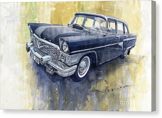 Classic Cars Canvas Print - 1978 Gaz Chaika M13 by Yuriy Shevchuk