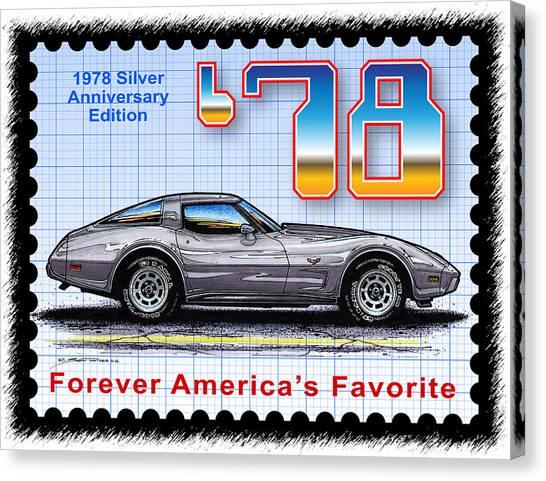 1978 Silver Anniversary Edition Corvette Canvas Print