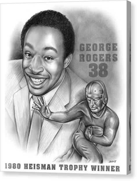 Sec Canvas Print - 1980 Heisman Winner by Greg Joens