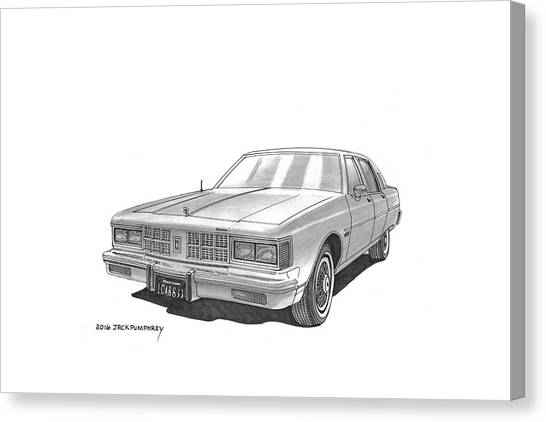 Canvas Print - 1981 Oldsmobile Regency 4 Dr Sedan by Jack Pumphrey