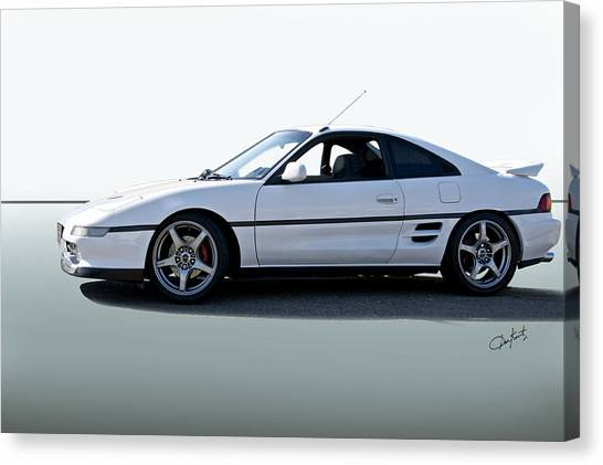 Toyota Cars Canvas Print   1991 Toyota Mr2 Vs Sports Coupe By Dave Koontz