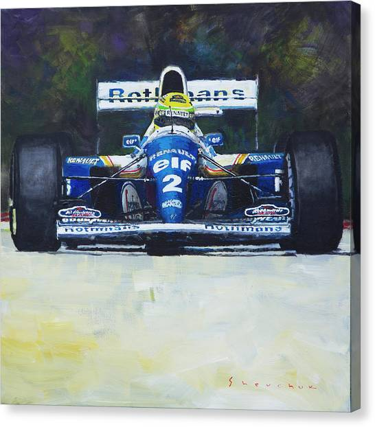 Race Cars Canvas Print - 1994 Ayrton Senna Williams Renault Fw16 by Yuriy Shevchuk