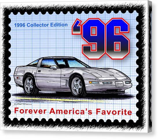 1996 Collector Edition Corvette Canvas Print