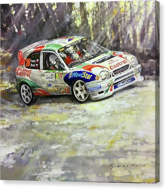 Toyota Canvas Print - 1997-1999 Toyota Carolla Wrc by Yuriy Shevchuk
