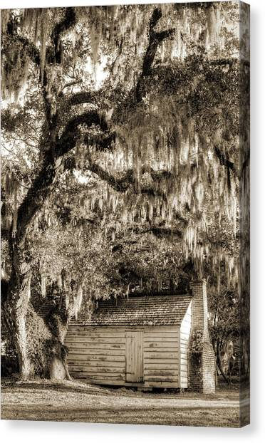 Racism Canvas Print - 19th Century Slave House by Dustin K Ryan
