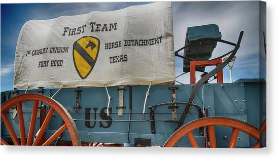 Iraq Canvas Print - 1st Cavalry Division Horse Detachment - Fort Hood by Stephen Stookey