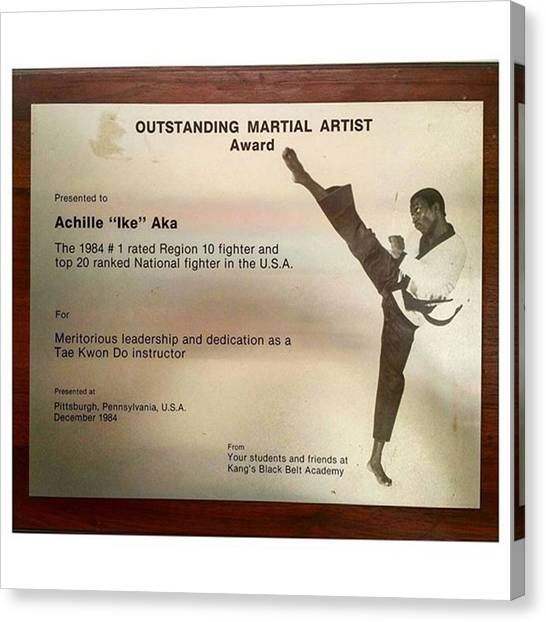 Karate Canvas Print - 1st Of March. Once More Happy Birthday by Akeem Aka