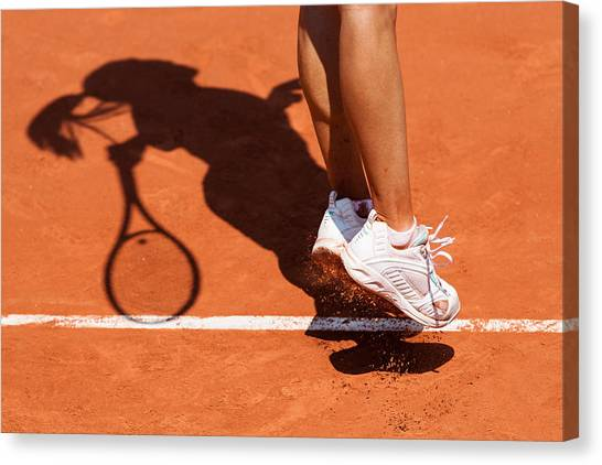 Clay Canvas Print - 1st Serve by Herve Loire