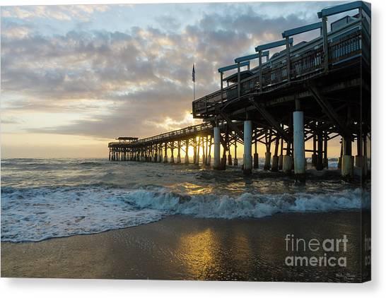 1st Sunrise 2017 Cocoa Beach Canvas Print