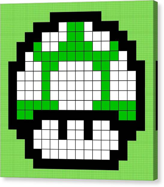 Super Mario Canvas Print - 1up by Anthony Evans