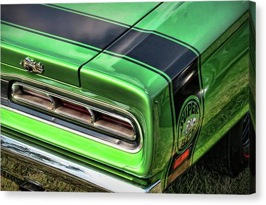 Turn Signals Canvas Print - 1969 Dodge Coronet Super Bee by Gordon Dean II