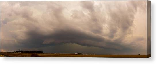 Canvas Print featuring the photograph 3rd Storm Chase Of 2015 by NebraskaSC