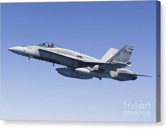 Sidewinders Canvas Print - A Cf-188a Hornet Of The Royal Canadian by Gert Kromhout