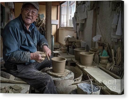 A Village Pottery Studio, Japan Canvas Print