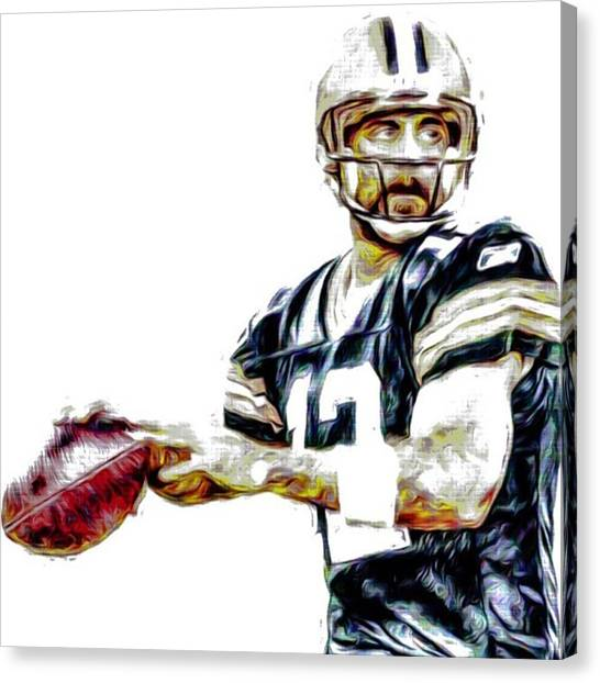 Sports Canvas Print - @aaronrodgerss #aaronrodgers #12 by David Haskett II