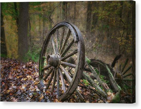 Carts Canvas Print - Abandoned Wagon by Tom Mc Nemar