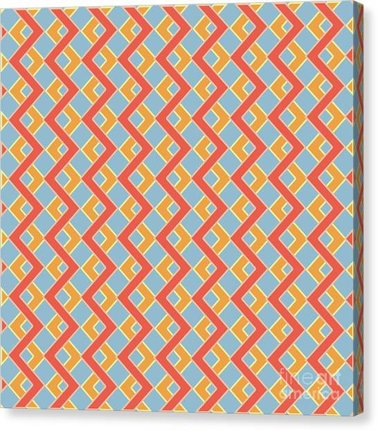 Arte Canvas Print - Abstract Orange, White And Red Pattern For Home Decoration by Drawspots Illustrations